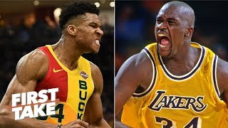 Shaq is wrong about Giannis being better than him – Stephen A. | First Take Video