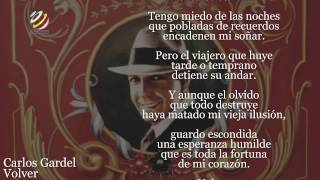 Carlos Gardel - Volver (Lyric video) [HQ Audio]