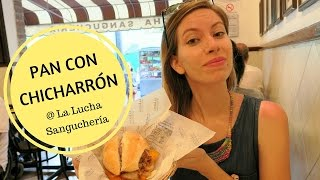 La Lucha Sanguchería: Pan con Chicharrón (Braised Pork Sandwich) for lunch in Lima, Peru