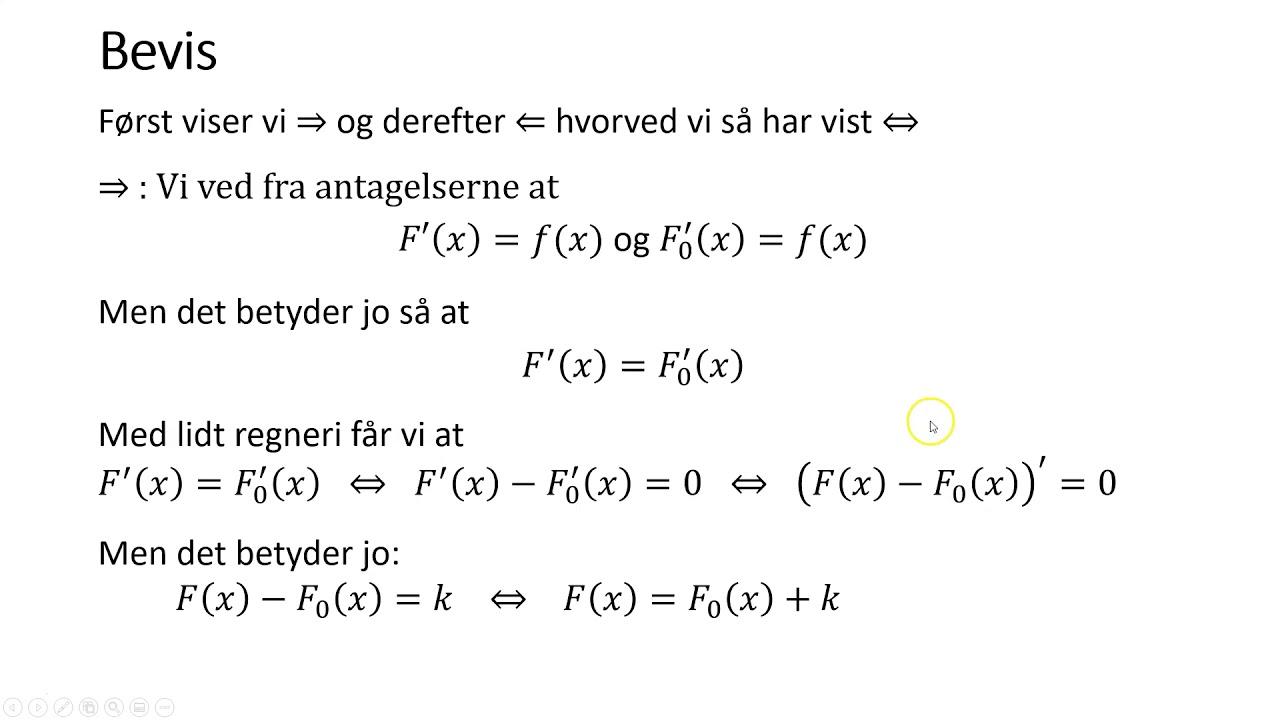 Integralregning 2   stamfunktionsbegrebet