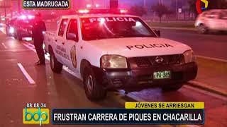 Surco: PNP y municipio frustran carreras de piques en Chacarilla