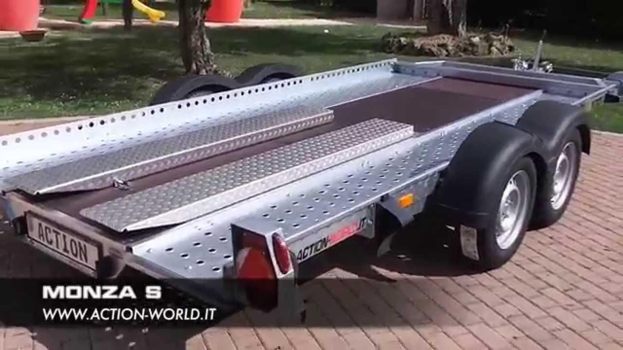 Rimorchio Trasporto Auto Modello Monza S Youtube
