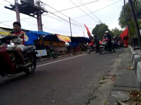 kampanye konvoi motor pdi p partai demokrasi indonesia perjuangan