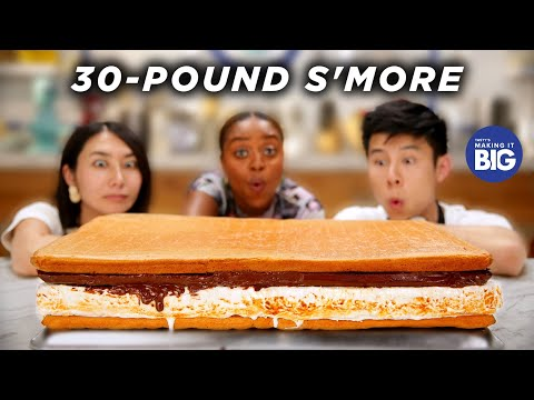 we-made-a-giant-30-pound-s'more-for-quinta