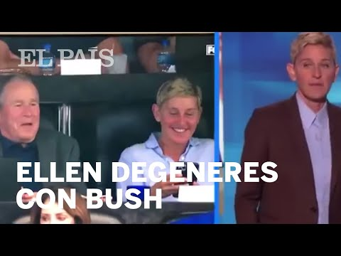 Ellen DeGeneres con George W. Bush