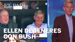Ellen DeGeneres con George W Bush