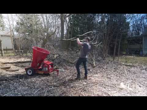Split-fire 4090 Wood Chipper - Chipping Maple Branches