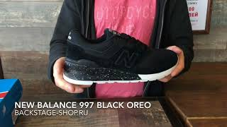 New Balance 997 Black Oreo