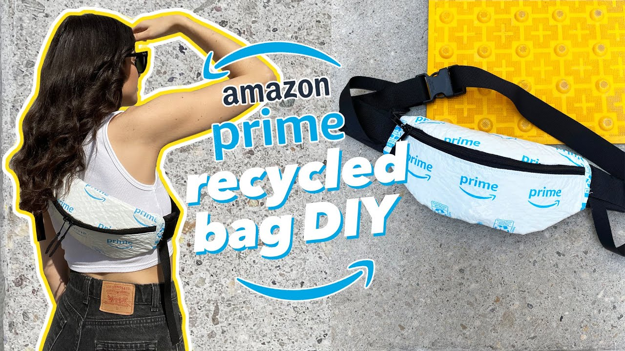 Upcycled Amazon Packaging into Fanny Pack DIY | Recycling Ideas
