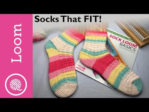 How to Customize Loom Knit Socks | Short row heel demo and more