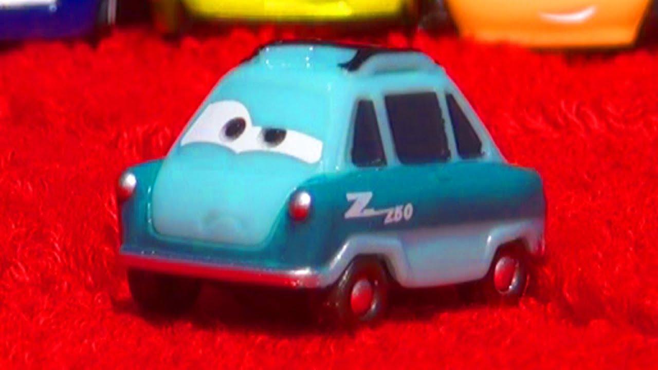 Cars 2 Micro Drifters 3 Pack Professor Z Grem Finn