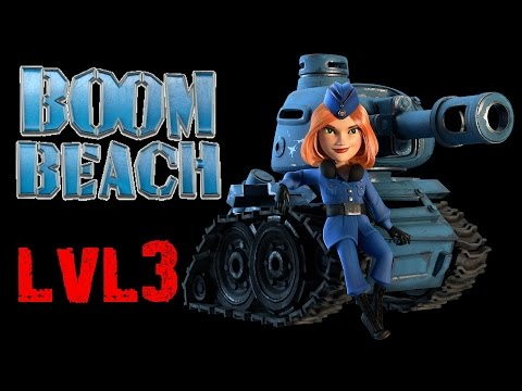 Boom Beach HQ13: ALL Level 3 Tank Multiplayer Raids And Strategy