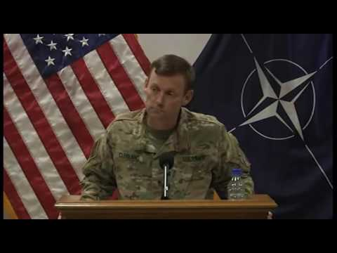 NATO News: Gen. Cleveland Gives Afghan Operational Update in Kabul. (July 25, 2016).
