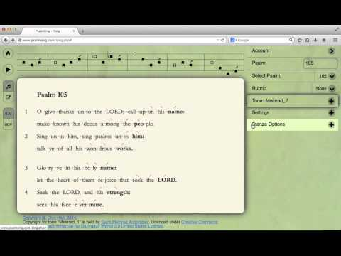 PsalmSing.com - St. Meinrad Psalm Tones