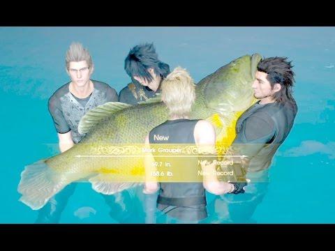 Final fantasy xv catching a legendary fish noble arapa for Ffxv fishing rods