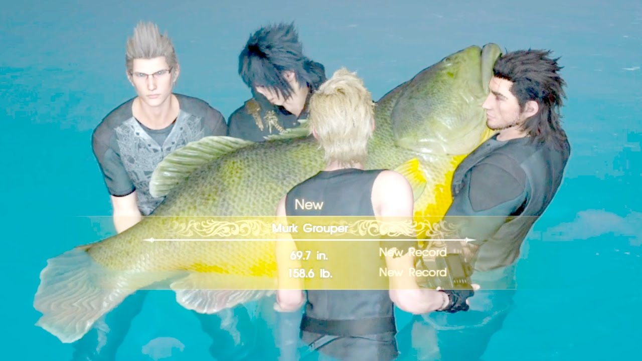 Final fantasy xv side quest angler 39 s nightmare best for Final fantasy 15 fishing