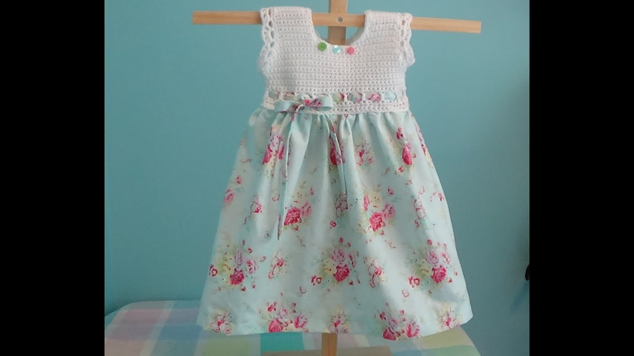 How to Crochet Baby Toddler Girl Dress using Vintage Pillow Case ...