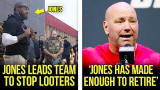 Jon Jones leads team to protect his city, Dana reacts to Jones vacating, Cormier, Conor, MMA News