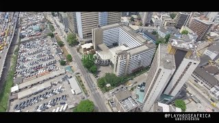 AERIAL DRONE  SHOT OF LAGOS  4k footage phantom 4