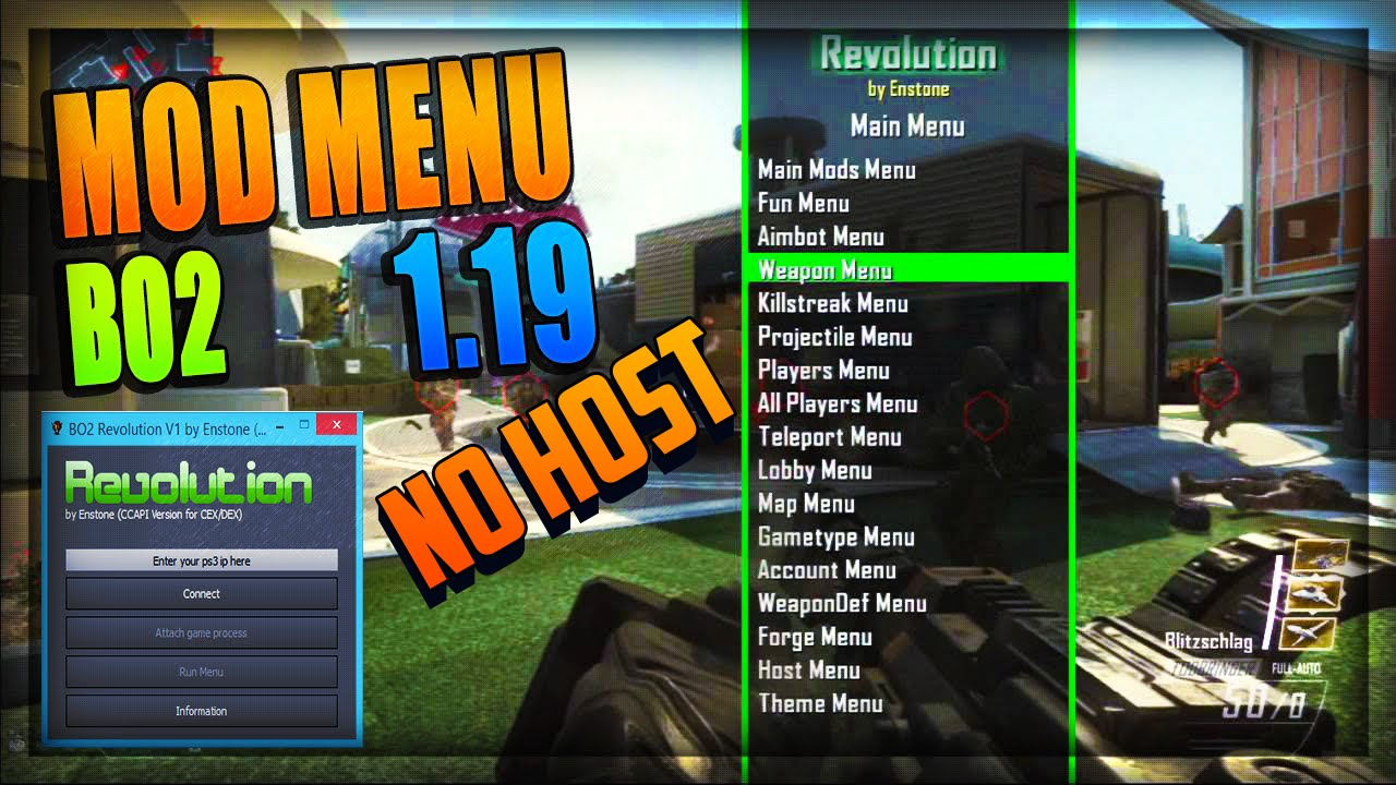 BO2 MOD MENU NO HOST 119 CEX DOWNLOAD