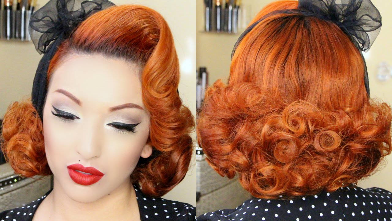 Classic Pinup Hair Tutorial  YouTube