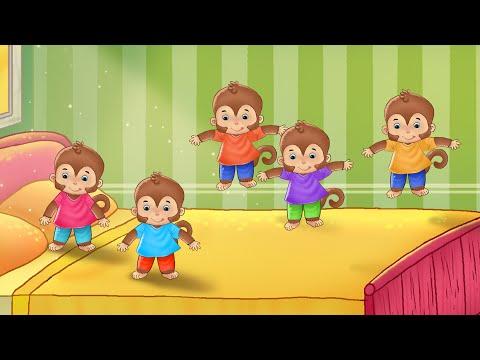 7 monkeys kids animation songs in hindi