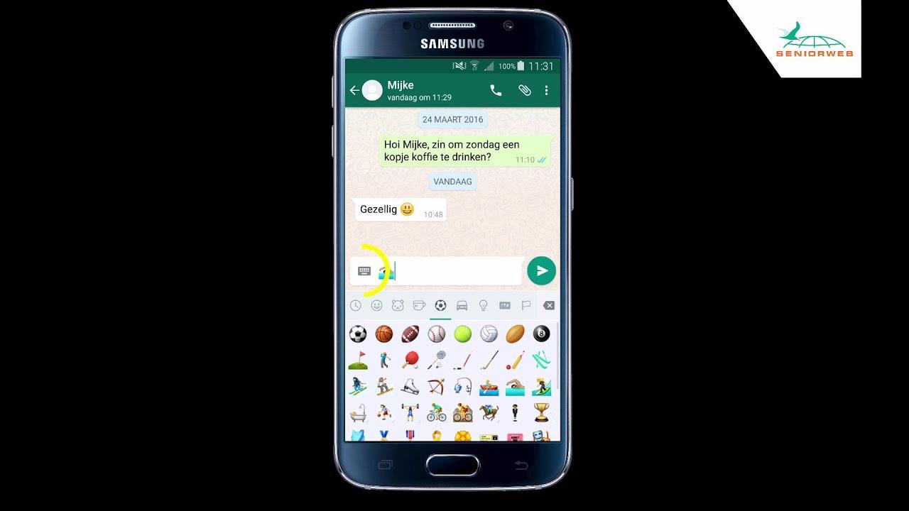 WhatsApp (Android): emoji gebruiken