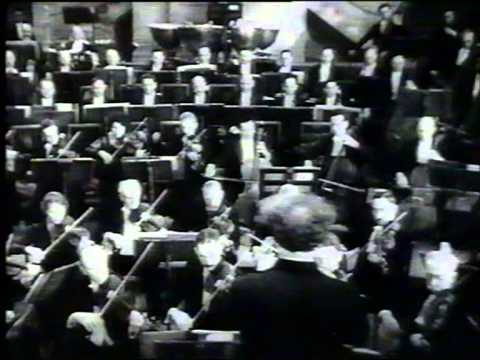 "Film ""Het Concertgebouworkest"" conducted by Willem Mengelberg, Paris 1931. Tobis Klangfilm."