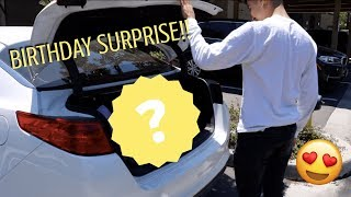 I SURPRISED MY BOYFRIEND FOR HIS BIRTHDAY!!!