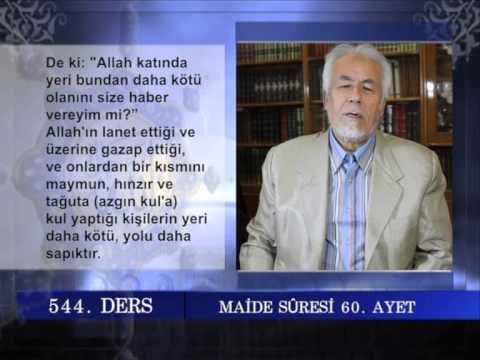 544 TEFSIR GUNLUGU MAHMUT TOPTAŞ MAİDE SURESİ AYET 57-75