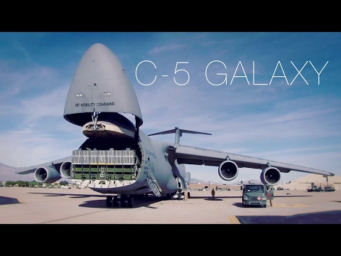 The Largest Plane In The Air Force – C-5 Galaxy Cargo Loading