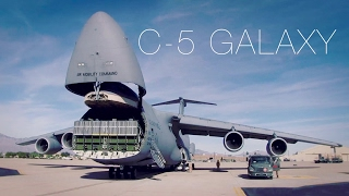 The Largest Plane In The Air Force - C-5 Galaxy Cargo Loading