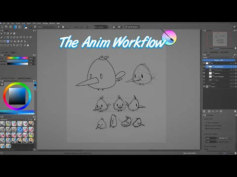 Krita animation tutorial: Overview of the traditional animation process
