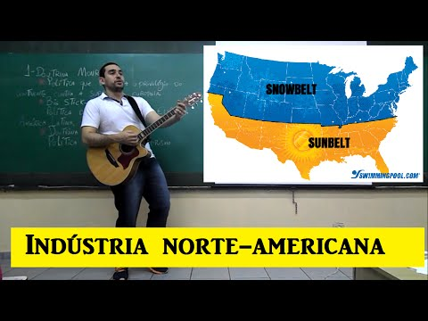 Indústria norte-americana. Sun belt e Manufacturing belt. All about That bass - Maghan  Trainor