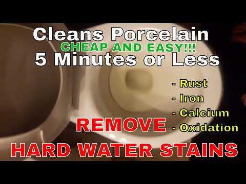 REMOVE HARD WATER STAINS IN TOILET OR ANY PORCELAIN SURFACE IN 5 MINUTES OR LESS CHEAP AND EASY