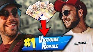 CETTE GAME NOUS FAIT GAGNER 200 EUROS Ft Valouzz... Fortnite Battle Royale