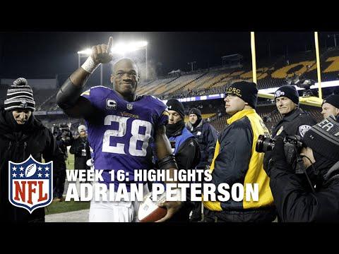Adrian Peterson Highlights (Week 16)   Giants vs. Vikings   NFL