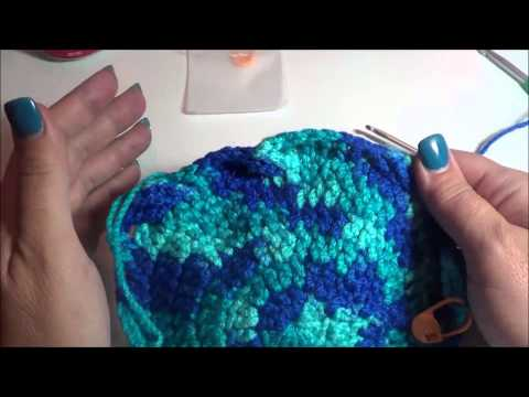 Cable Stitch Hat Right Handed