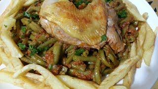 اطباق صيفية لوبيا مانجتو مجمرة وكأنها في الفرن لذيذة وسهلة وسريعة فاصوليا خضراء