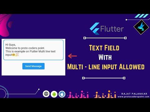 Flutter Text Input field with multi-line input support -TextFormField multiline Flutter