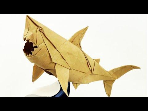 Origami Great White Shark Nguyen Ngoc Vu Super Complex Youtube