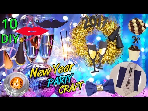 10 DIY New Year Party Crafts. HOW TO!