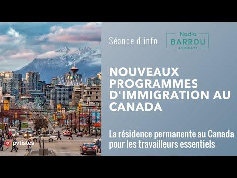 Nouveaux programmes d'immigration au Canada en 2021