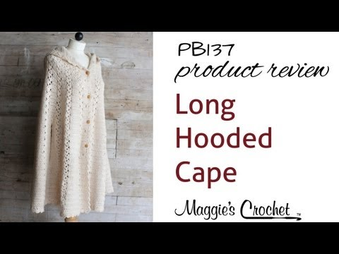 How to crochet hooded cape inspired by little red riding hood video