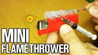 How to make mini flamethrower