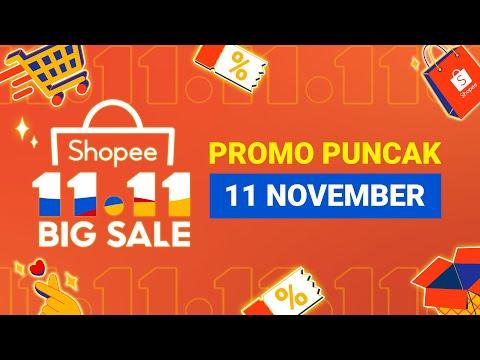 Jangan Lewatkan 11 November Promo Puncak Shopee 11 11 Big Sale Youtube