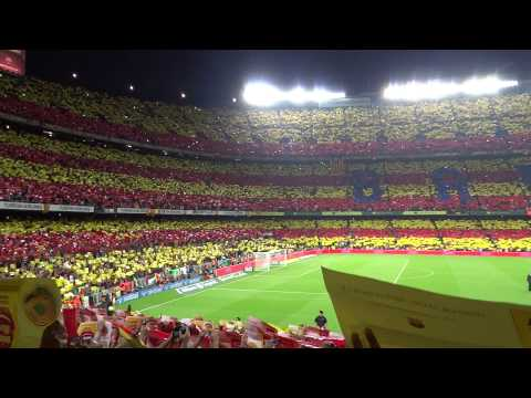 Super Classico - Atmosphere in Camp Nou Barcelona Stadium