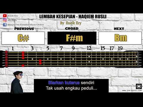Free Download Haqiem Rusli - Lembah Kesepian [ Minus One Karaoke Intrumental + Guitar Chord With Tabs ] Mp3 dan Mp4