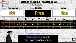 Cover images Haqiem Rusli - Lembah Kesepian [ Minus One Karaoke Intrumental + Guitar Chord with Tabs ]