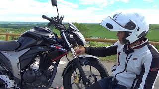SUZUKIジクサー150参考動画:開陽台を走る(北海道)